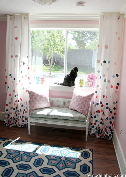 Remodelaholic - confetti polka dot curtains tutorial