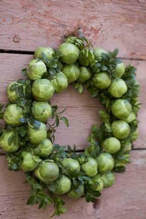 brussels sprout wreath