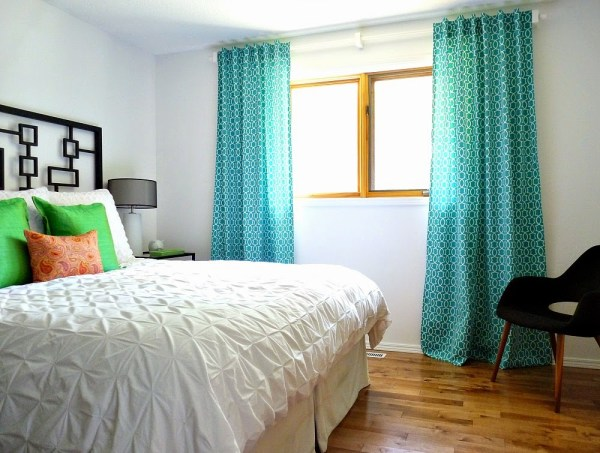 diy curtains tab back tutorial, Dans le Lakehouse on @Remodelaholic