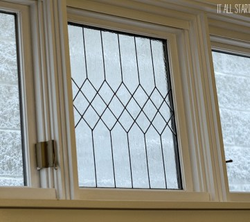 How to DIY Faux Leaded Glass Windows