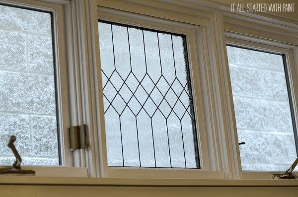 how to DIY a faux leaded glass window, It All Started With Paint on Remodelaholic