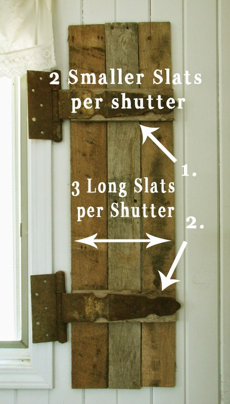 how to build shutters from pallets, Prodigal Pieces on Remodelaholic