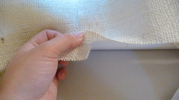 how to cut and sew burlap, The Caldwell Project on Remodelaholic