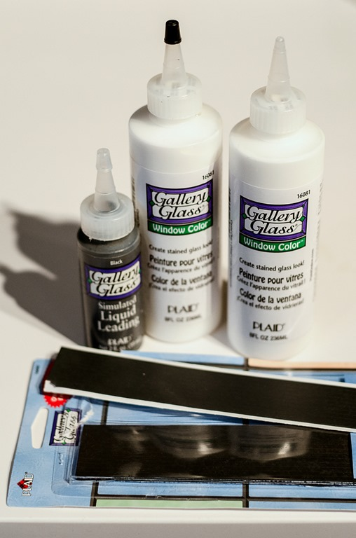 supplies for a faux leaded glass window, It All Started With Paint on Remodelaholic
