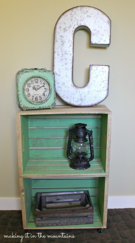 wood crate bedside table, Making It In The Mountains