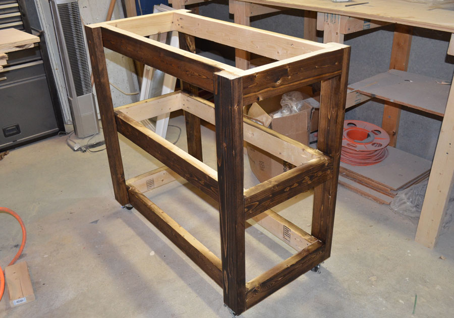 Remodelaholic | Build a Wood Bar Cart DIY