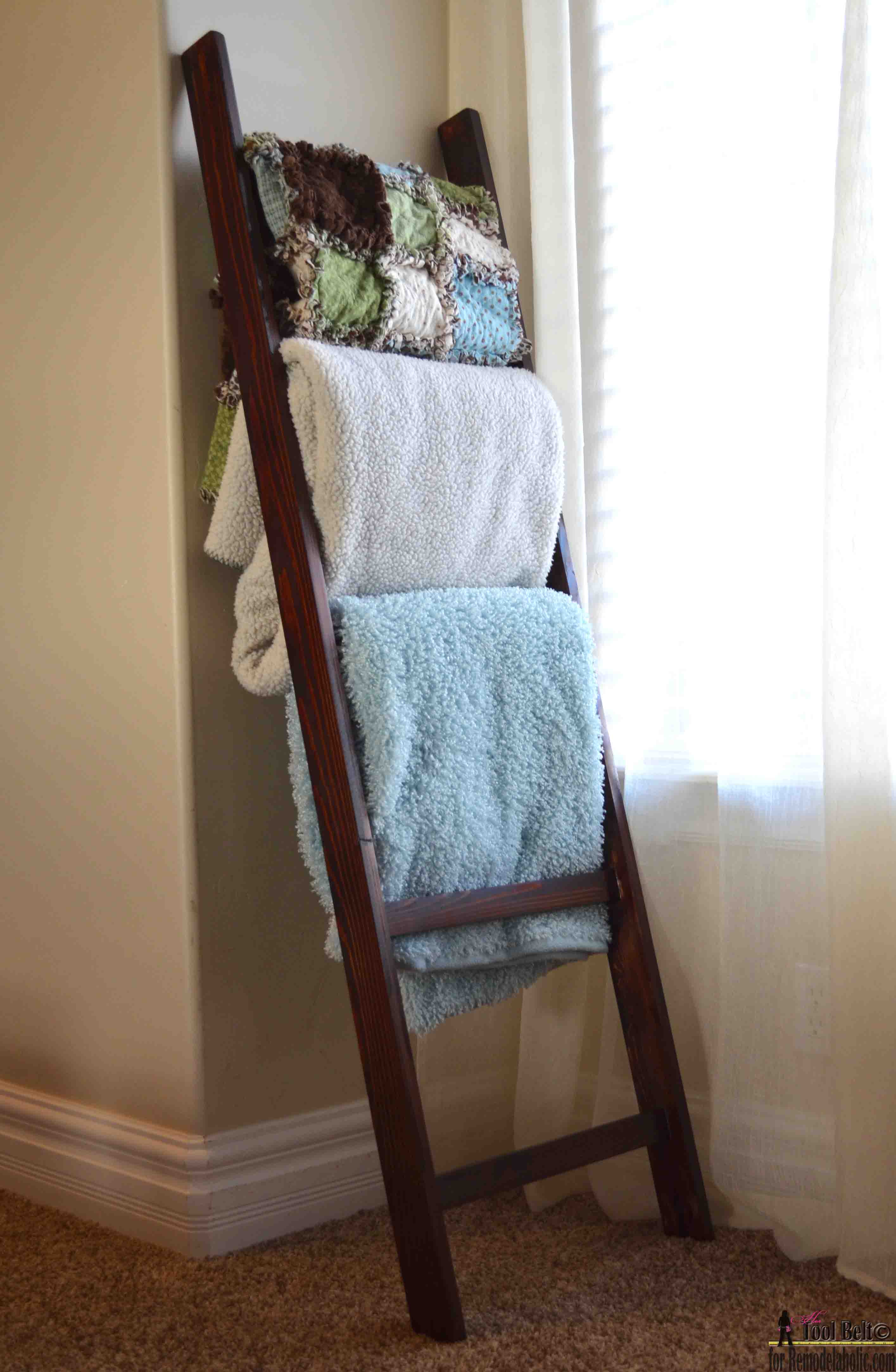 A Blanket Ladder Is A Great Storage Solution And It Is So Easy To Build And Cheap You Can Buy The Wood For About  They Make A Great Homemade Gift Too
