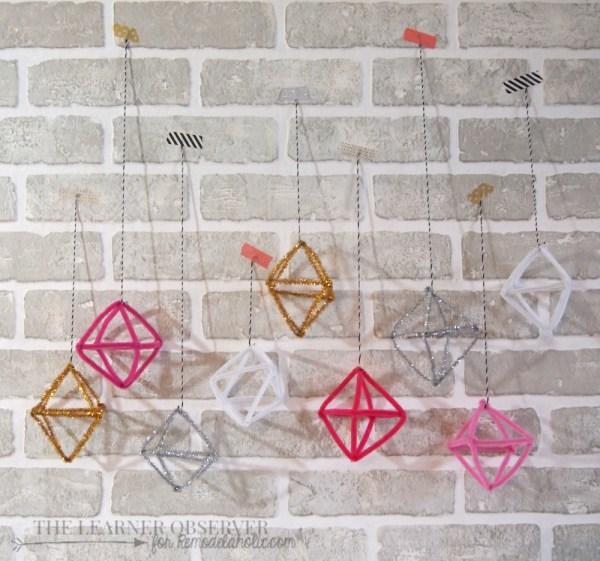 DIY Pipe Cleaner Himmeli Ornaments - The Learner Observer for Remodelaholic.com