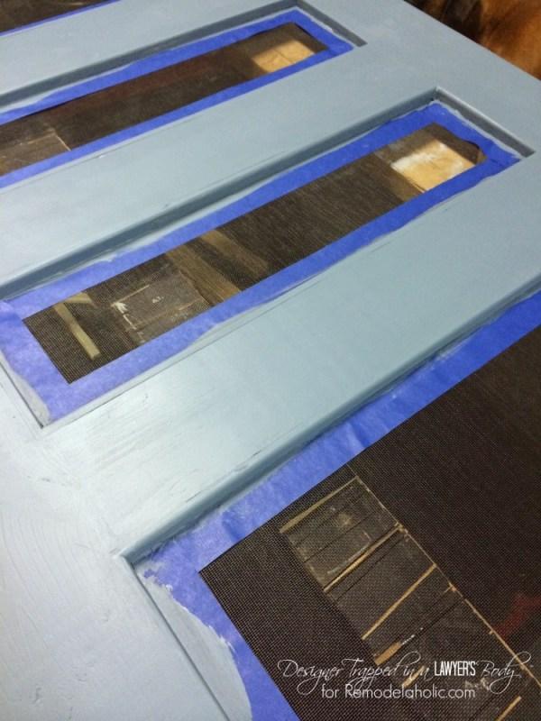DIY Screen Door tutorial by Designer Trapped in a Lawyer's Body for Remodelaholic.com.  #diyscreendoor #diydoor