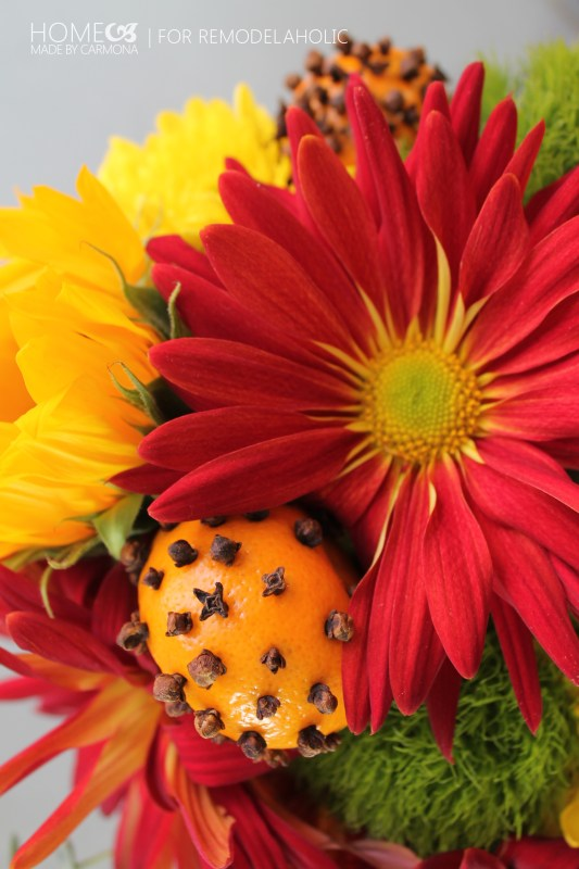 Pomanders and flowers -HMBC for Remodelaholic