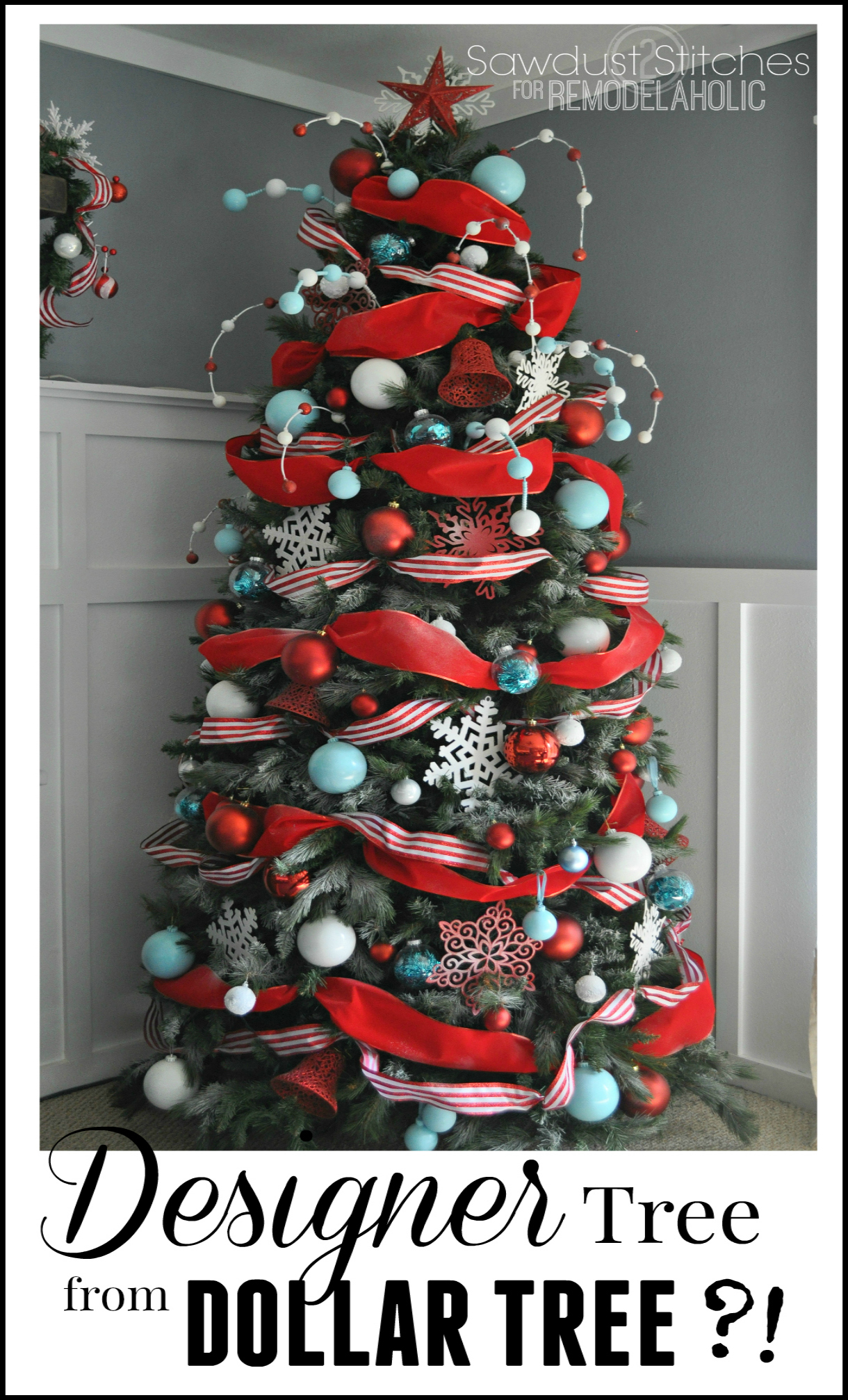 Greatest Remodelaholic | How to Decorate a Christmas Tree: A Designer Look  HK72