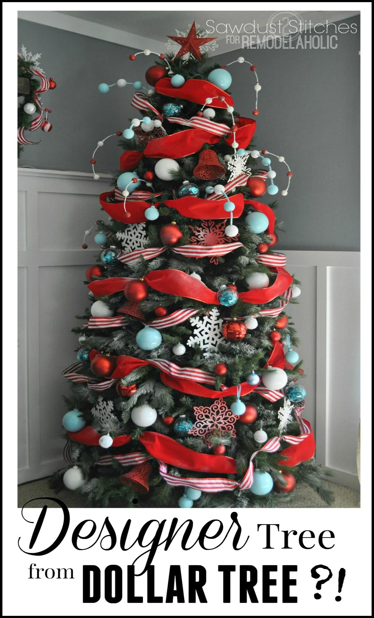 Merveilleux Designer Look Christmas Tree, Using Dollar Store Supplies!  #diychristmastreee #designertree #