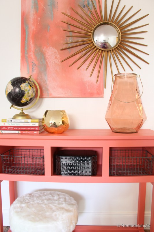 Painted Console Table Pink