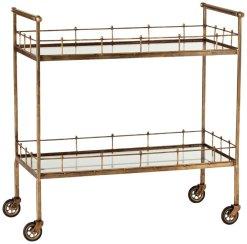 Winter Whites Bar Cart