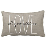 Winter Whites Love Pillow