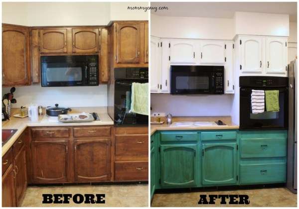 chalk painted kitchen cabinets - Mommy Envy via @Remodelaholic