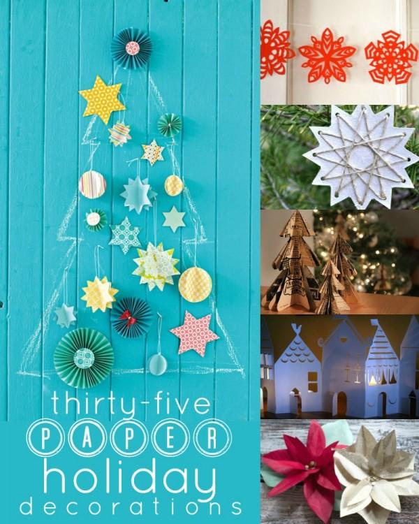 christmas ornaments paper 35 tutorials
