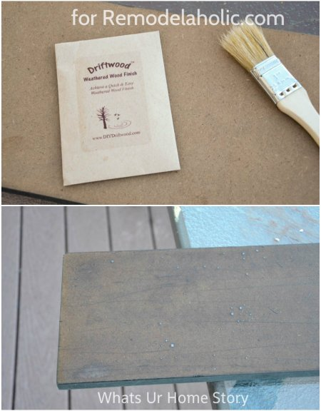 create a driftwood finish @Remodelaholic