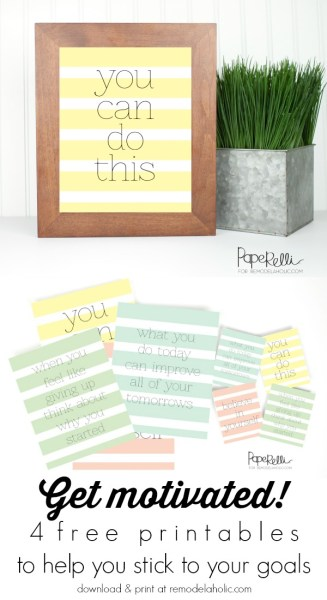 4 Free Motivational Printables @Remodelaholic