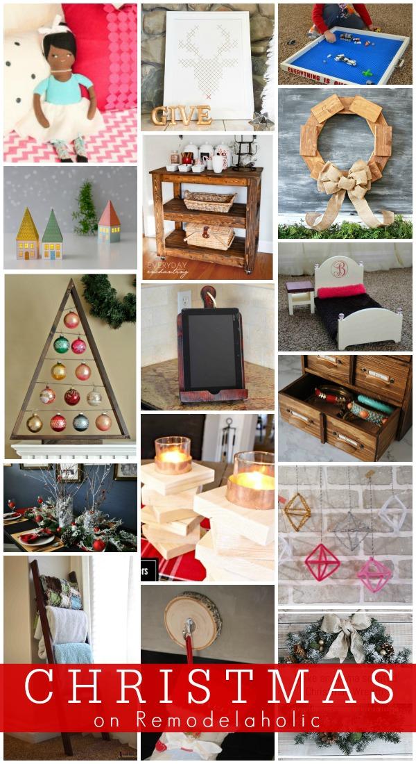 Christmas Ideas and Tutorials @Remodelaholic #12days72ideas
