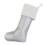 Hot Pink Christmas Silver Stocking