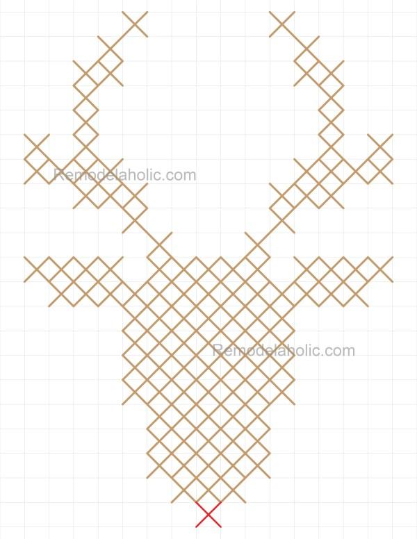 Reindeer pattern 8.5x11 half scale
