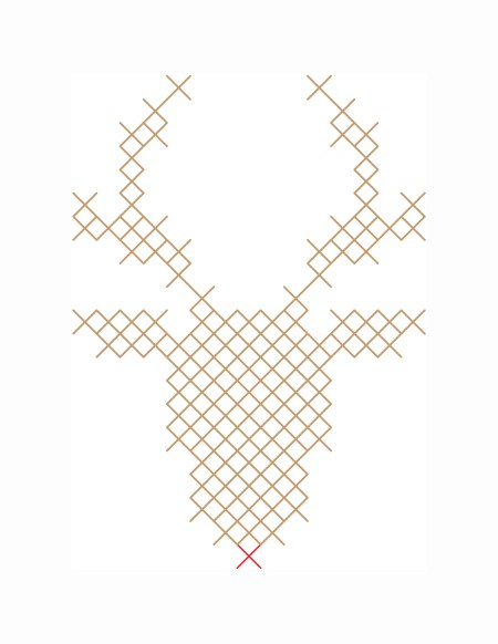 Reindeer pattern printable
