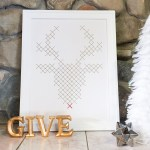 Rudolph Faux Embroidery Art Tutorial by @Remodelaholic-2577