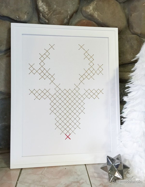 Rudolph Faux Embroidery Art Tutorial by @Remodelaholic-2593