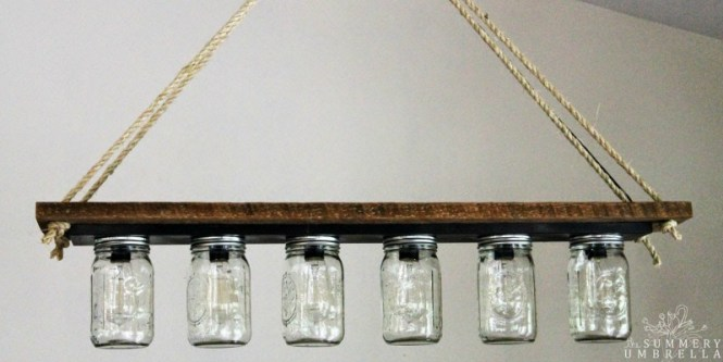 Remodelaholic Upcycle A Vanity Light Strip To Hanging Pendant