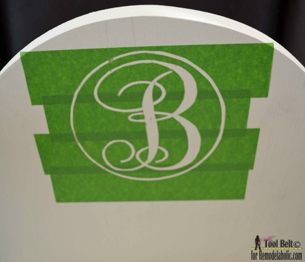 How To Customize A DIY Wood Doll Bed For 18 Dolls, Make Your Own Stencil With Painter's Tape #remodelaholic