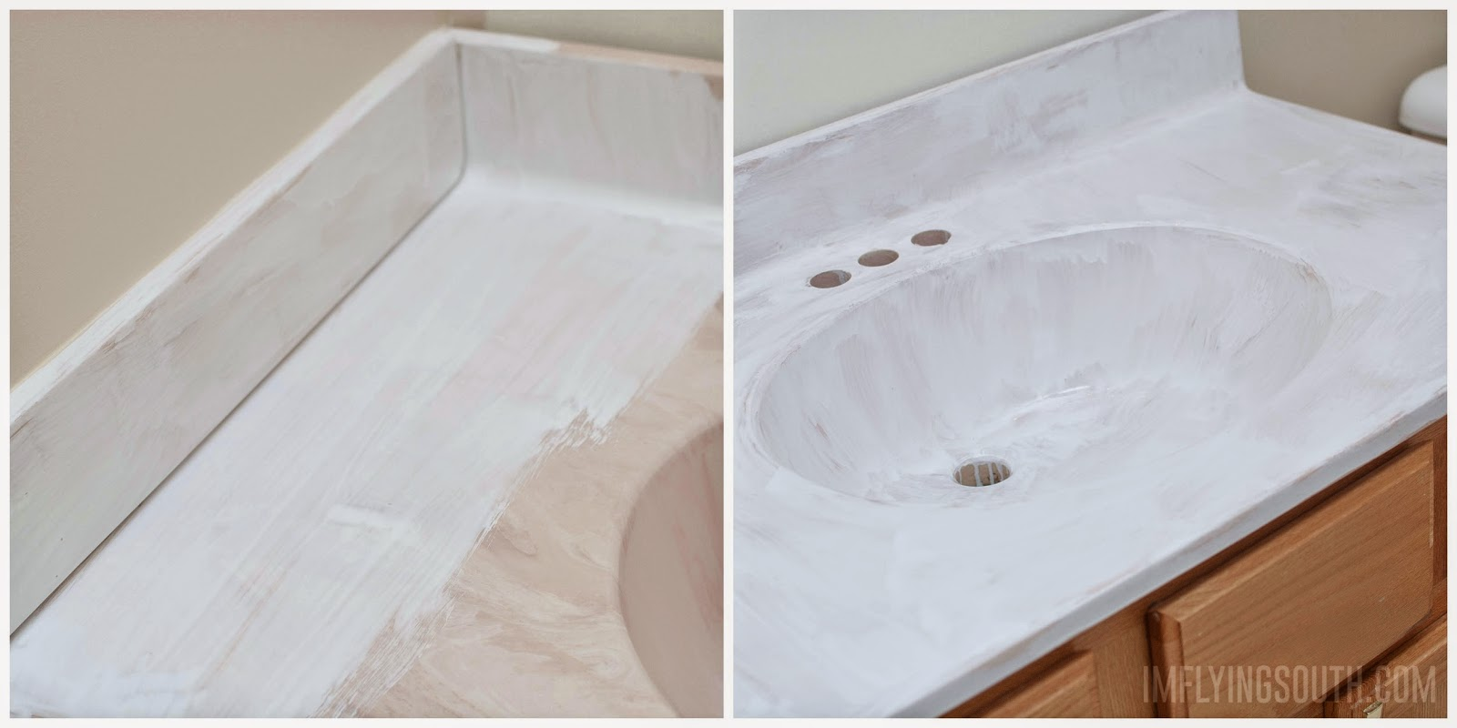 How To Paint A Bathroom Sink   Iu0027m Flying South Featured On @Remodelaholic
