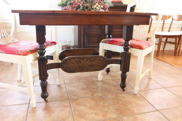how to refinish carved wooden furniture - after
