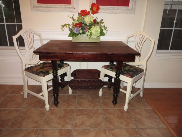 how to refinish carved wooden furniture - before2