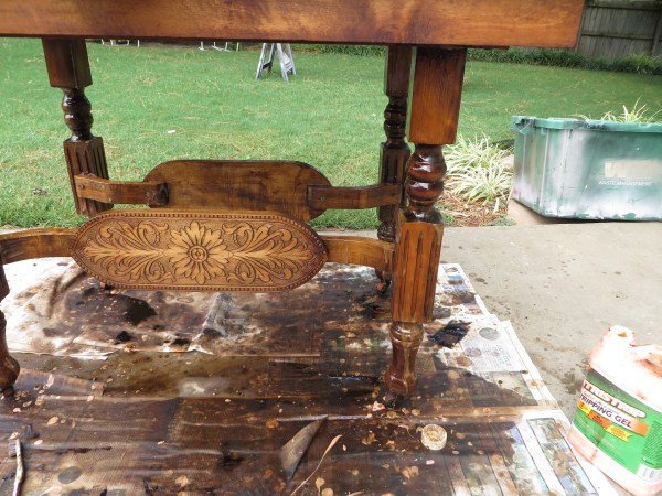 how to refinish vintage wooden furniture - Beckwith's Treasures on @Remodelaholic