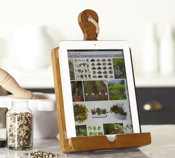 Pottery Barn Wood Tablet Stand Inspiration