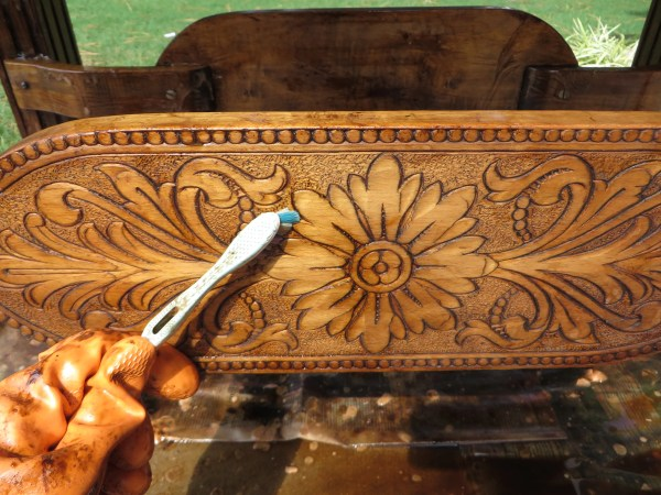 tips for refinishingcarved wooden furniture - Beckwith's Treasures on @Remodelaholic