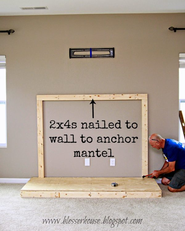wall cleat for diy faux fireplace - Blesser House featured on @Remodelaholic