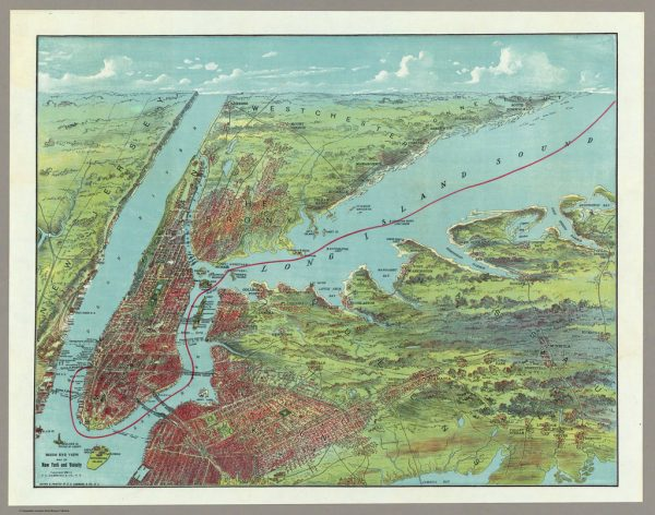 20 Free Vintage Map Printable Images of NYC in color | Remodelaholic.com #art #printable #maps