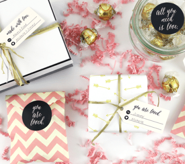 Remodelaholic Printable Valentines Day Stickers and Tags
