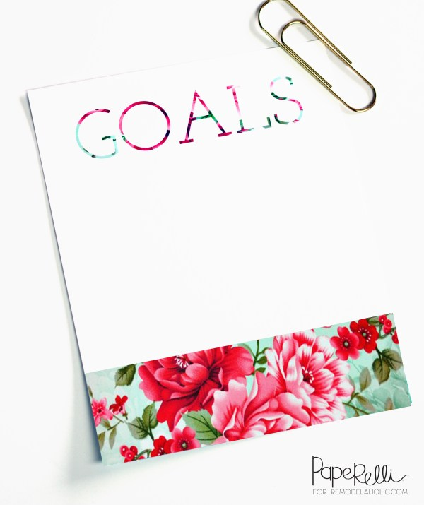 Goals Printable by Paperelli for @Remodelaholic