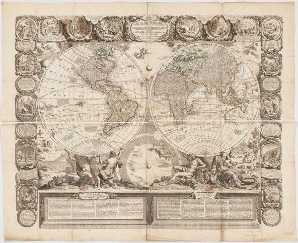 Vintage Map Printable Images | Remodelaholic.com #art #printable #maps