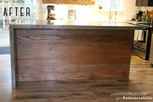 Self Leveling Concrete Countertop : Remodelaholic diy concrete kitchen island reveal how to