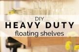 diy heavy duty floating shelves