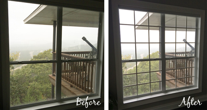 diy window mullion grids before and after - The Rozy Home featured on @Remodelaholic ... & Remodelaholic | DIY Custom Window Mullions (Grids)