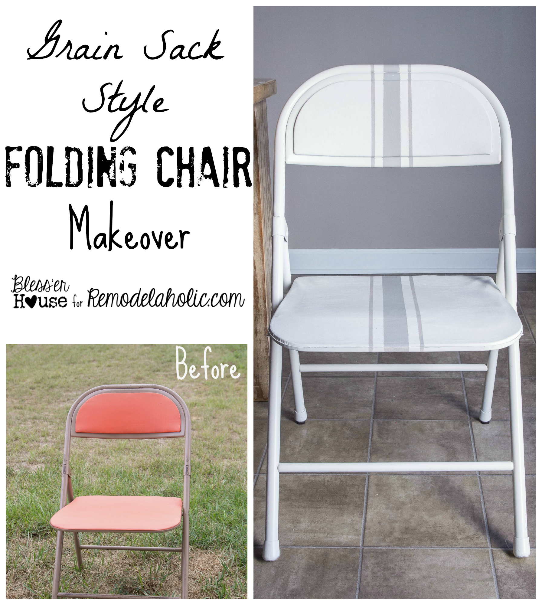 Folding Chair Makeover Grain Sack