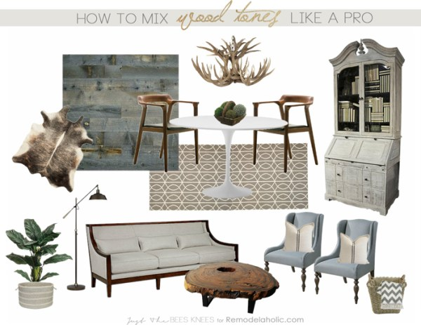 How to mix wood tones like a pro on Remodelaholic.com