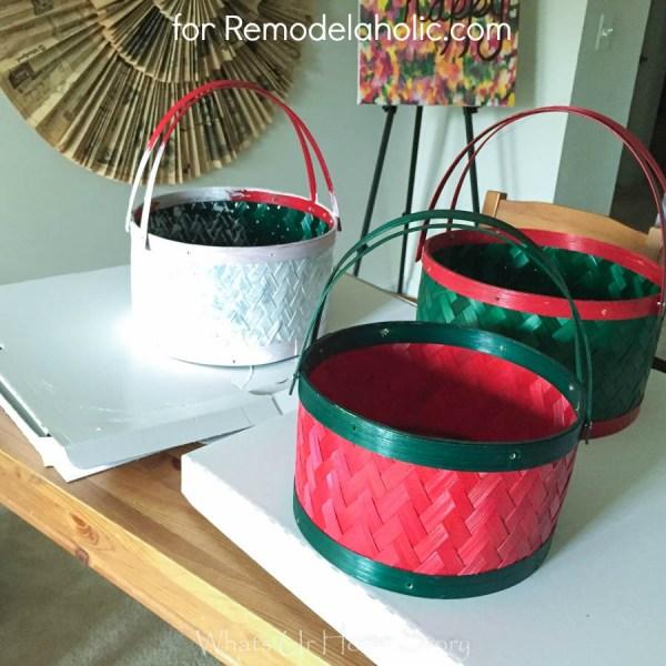 painted storage baskets tutorial