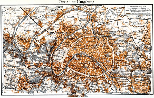 20 Free Vintage Map Printable Images, Paris | Remodelaholic.com #art #printable #maps