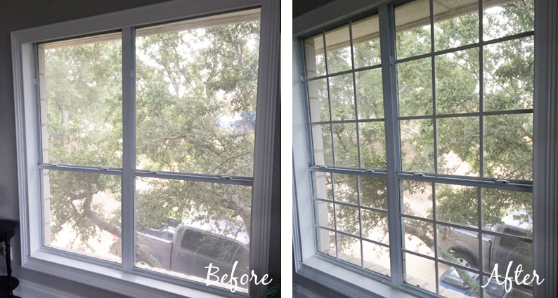 window grids tutorial diy mullions before and after - The Rozy Home featured on @Remodelaholic